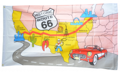 USA Route 66 Flag - 3 x 5 ft. / 90 x 150 cm