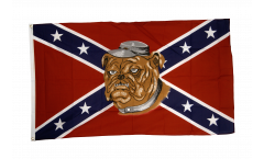 USA Southern United States with Bulldog Flag - 3 x 5 ft. / 90 x 150 cm