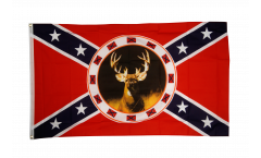 USA Southern United States with deer Flag - 3 x 5 ft. / 90 x 150 cm