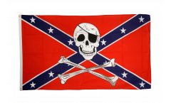 USA Southern United States pirate Flag - 3 x 5 ft. / 90 x 150 cm