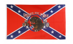 USA Southern United States Rebel till I die Flag - 3 x 5 ft. / 90 x 150 cm
