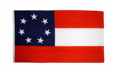 USA Southern United States Stars and Bars 1861 Flag