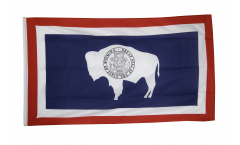 USA Wyoming Flag - 3 x 5 ft. / 90 x 150 cm