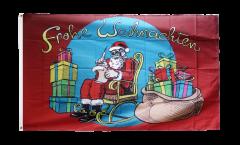 Santa Claus Frohe Weihnachten Flag - 3 x 5 ft. / 90 x 150 cm