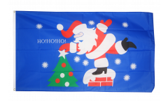 Santa Claus HoHoHo Flag - 3 x 5 ft. / 90 x 150 cm