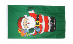 Santa Claus with gifts Flag - 3 x 5 ft. / 90 x 150 cm