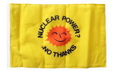 Nuclear Power No Thanks Flag - 12 x 18 inch