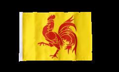 Belgium Wallonia Flag with sleeve
