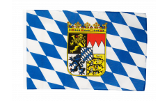 Germany Bavaria with coat of arms Flag - 12 x 18 inch