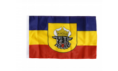 Germany Mecklenburg old Flag - 12 x 18 inch