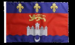 France Bordeaux Flag with sleeve