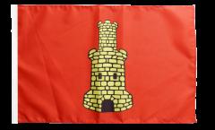 France Caen Flag - 12 x 18 inch