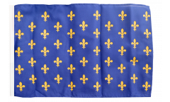 France Fleur-de-lis, blue Flag with sleeve