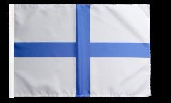 France Marseille Flag - 12 x 18 inch