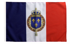 France with royal crest Flag - 12 x 18 inch