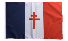 France with Cross of Lorraine Flag - 12 x 18 inch