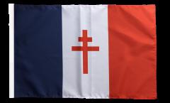 France libre 1940-43 - Croix de Lorraine Flag with sleeve