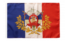 France with crest Flag - 12 x 18 inch