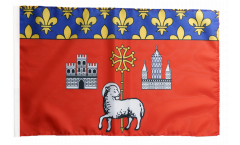 France Toulouse Flag - 12 x 18 inch