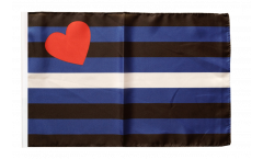Gay Pride Leather Flag - 12 x 18 inch