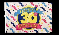 Happy Birthday 30 Flag - 12 x 18 inch