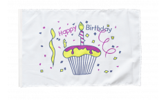 Happy Birthday Cake Flag - 12 x 18 inch