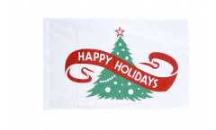 Happy Holidays Flag - 12 x 18 inch