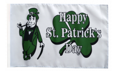 Happy Saint Patrick's Day St Patrick's Flag - 12 x 18 inch