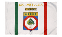 Italy Apulia Flag with sleeve