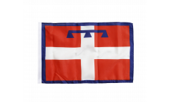 Italy Piedmont Flag with sleeve