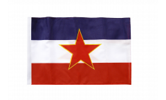 Yugoslavia old Flag - 12 x 18 inch