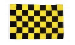 Checkered black-yellow Flag - 12 x 18 inch