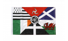 Celtic nations Flag with sleeve