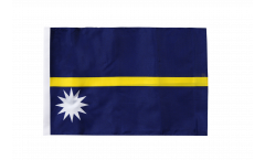 Nauru Flag with sleeve