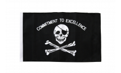 Pirate Commitment to excellence Flag with sleeve