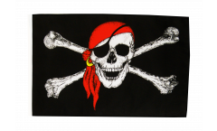 Pirate with bandana Flag with sleeve