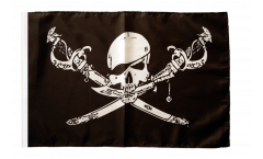 Pirate with sabre Flag with sleeve