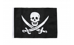 Pirate with two swords Flag with sleeve