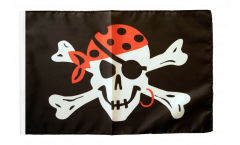 Pirate One eyed Jack Flag with sleeve