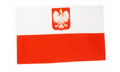 Poland with eagle Flag with sleeve