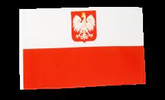 Poland with eagle Flag with sleeve
