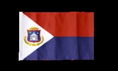 Saint Martin Flag with sleeve