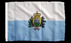 San Marino Flag - 12 x 18 inch