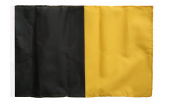 black-yellow Flag - 12 x 18 inch