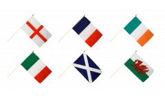 Hand Waving Flag Pack Six Nations Championship - 30 x 45 cm