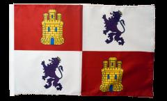 Spain Castile and León Flag with sleeve