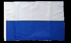 Stripe white blue Flag - 12 x 18 inch