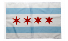 USA City of Chicago Flag with sleeve