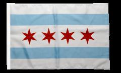USA City of Chicago Flag - 12 x 18 inch