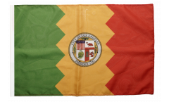 USA City of Los Angeles Flag with sleeve
